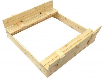 Dřevěné pískoviště 120 x 120 cm