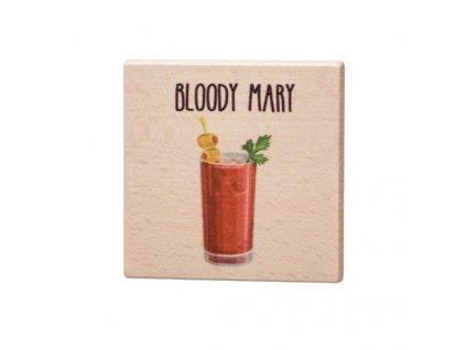 Dřevěný podtácek - Bloody Mary