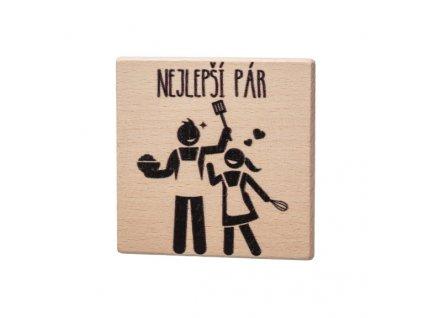 Dřevěný podtácek - Nejlepší pár