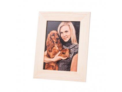 Vlastní fotografie v dřevěném fotorámečku 28 x 22 cm