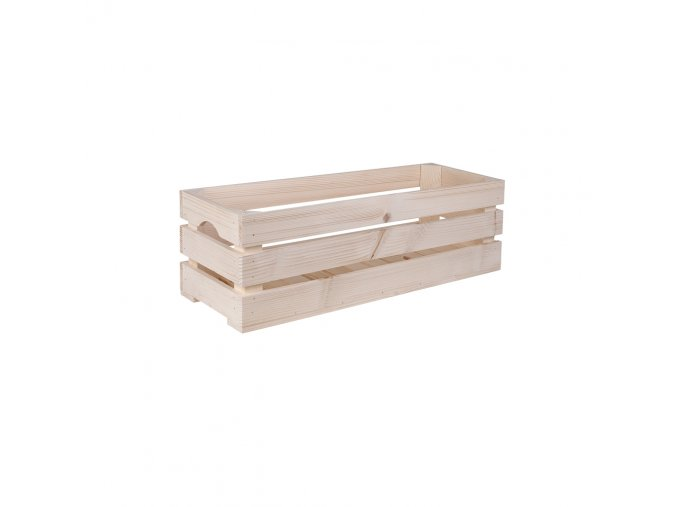 Dřevěná bedýnka 60x22x20 cm