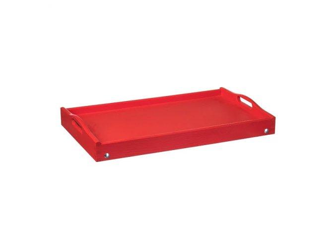 dreveny servirovaci stolek do postele 50x30 cm cerveny 1000x665