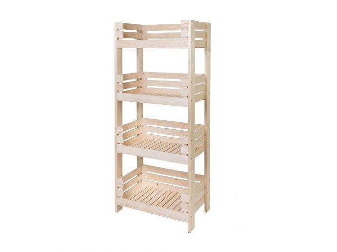 Regál dřevěný r4o 150 x 64 x 39 cm
