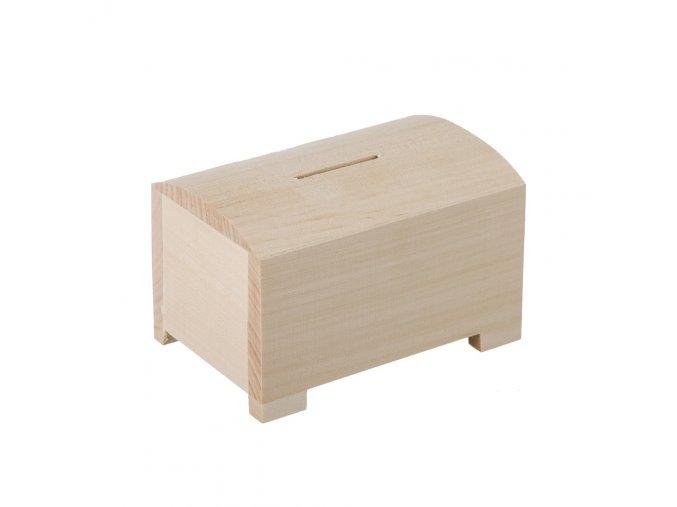 Dřevěná truhlička pokladnička
