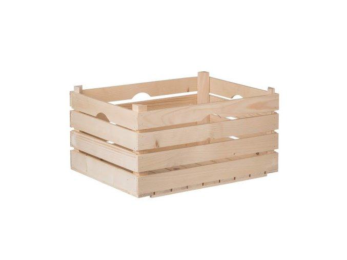 Dřevěná bedýnka 52 x 36 x 27 cm