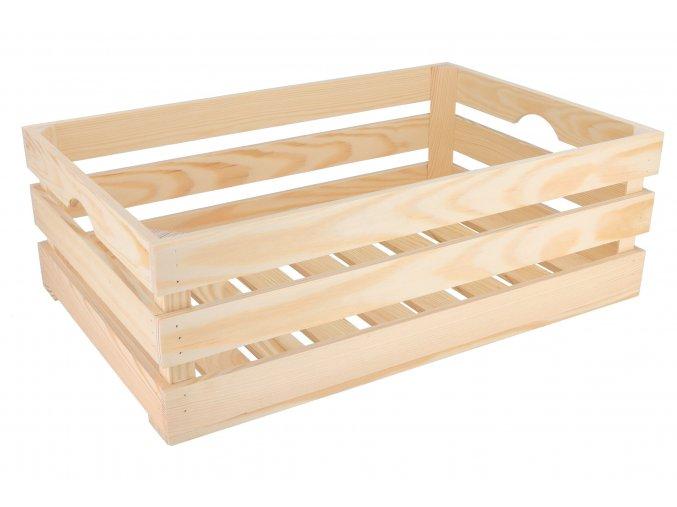Dřevěná bedýnka 60 x 39 x 20 cm