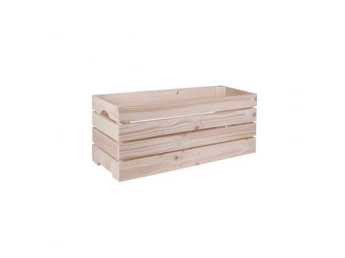 Dřevěná bedýnka 60x22x24 cm