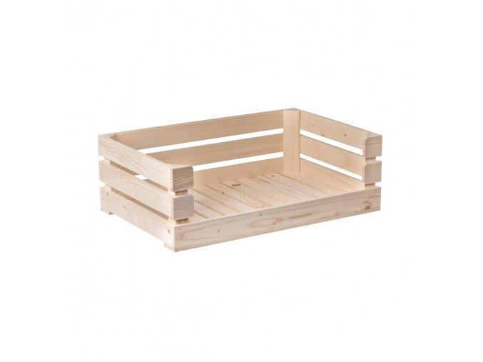 Dřevěná bedýnka otevřená 60 x 39 x 20 cm