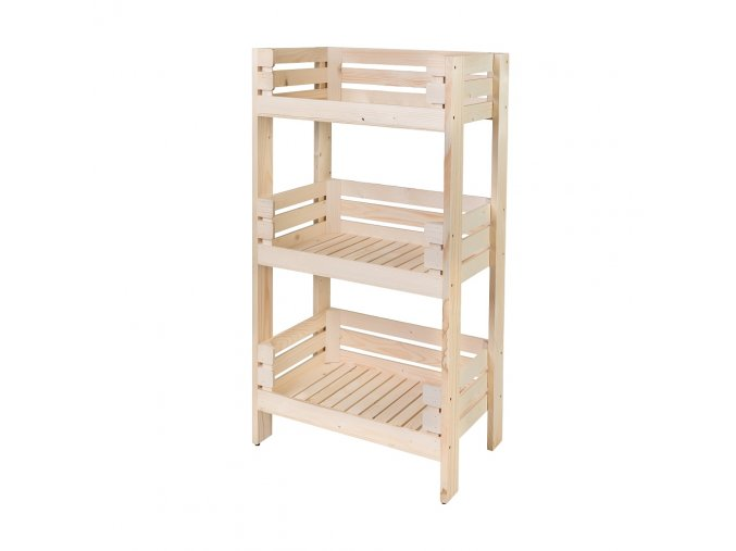 Regál dřevěný r3o 120 x 64 x 39 cm
