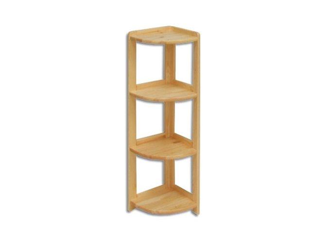 Regál dřevěný rohový r4r 106 x 30 x 30 cm