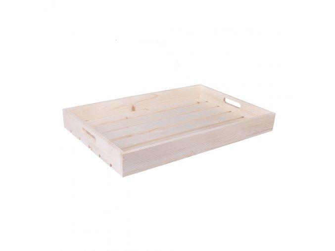 Dřevěná bedýnka 56 x 36 x 6 cm
