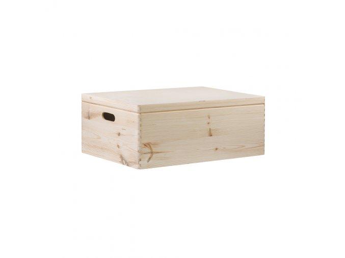 Dřevěný box s víkem 60X40X23 CM