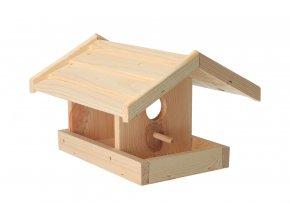 Dřevěné krmítko pro ptáky borovice