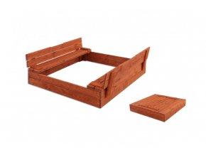 Dřevěné pískoviště komfort 120 x 120 cm