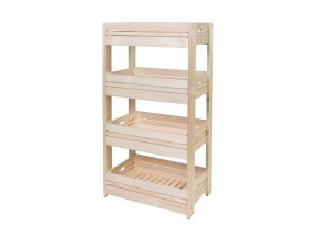 Regál dřevěný r4 120 x 64 x 39 cm