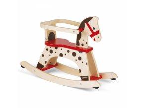 Dřevěný houpací kůň s odnímatelnou ohrádkou