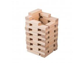 Dřevěná kouzelná věž z kostek