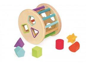 Dřevěná magnetická vkládačka - buben