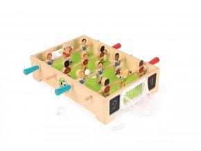 Dřevěný fotbalový stůl se síťovou brankou