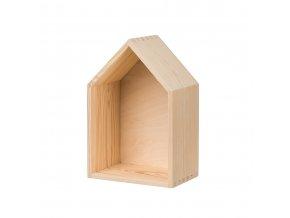 Dřevěná polička domeček - velká