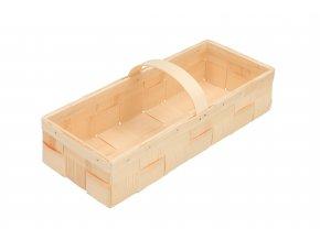 Dřevěný košík z dýhy obdélný velký