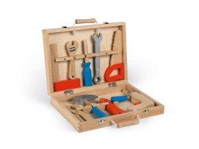 Dřevěný kufřík s nářadím