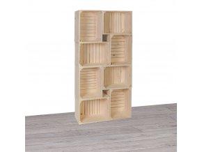 7978f3ace831 Dřevěné bedýnky knihovna II 70x140x24 cm