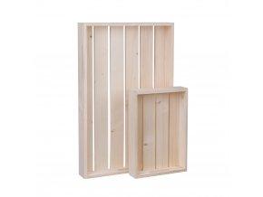 Dřevěné bedýnky - komplet 2 ks (56 x 36 x 6 cm + 32 x 22 x 6 cm)