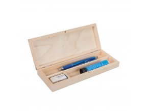Dřevěná krabička na psací potřeby