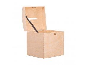 Dřevěná truhla XIV pokladnička na klíč