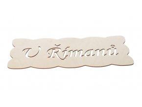 Dřevěná cedulka s nápisem