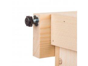 Regál dřevěný R3O 120x64x39 cm