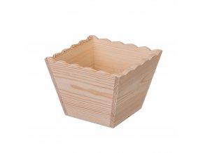 Dřevěný ozdobný květináč - čtverec
