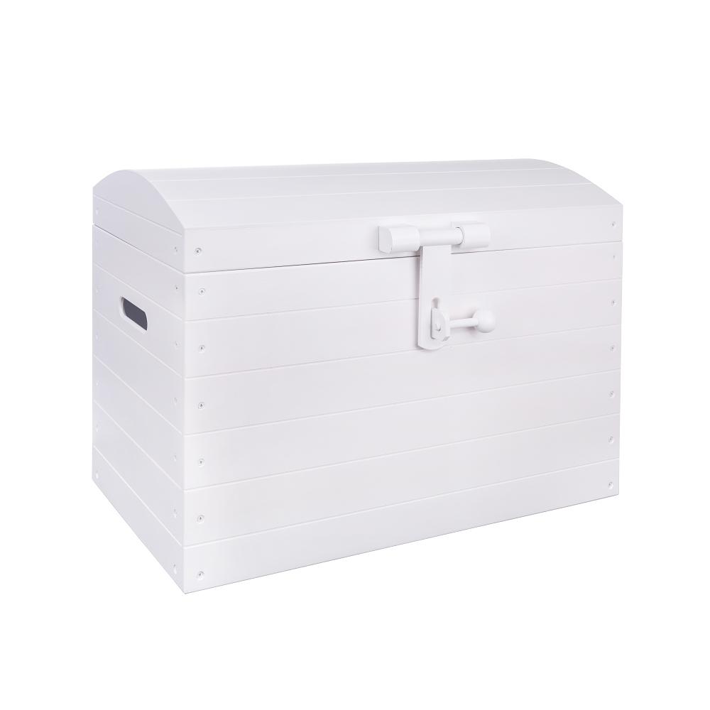 Dřevěná truhla bílá 63x34x45 cm