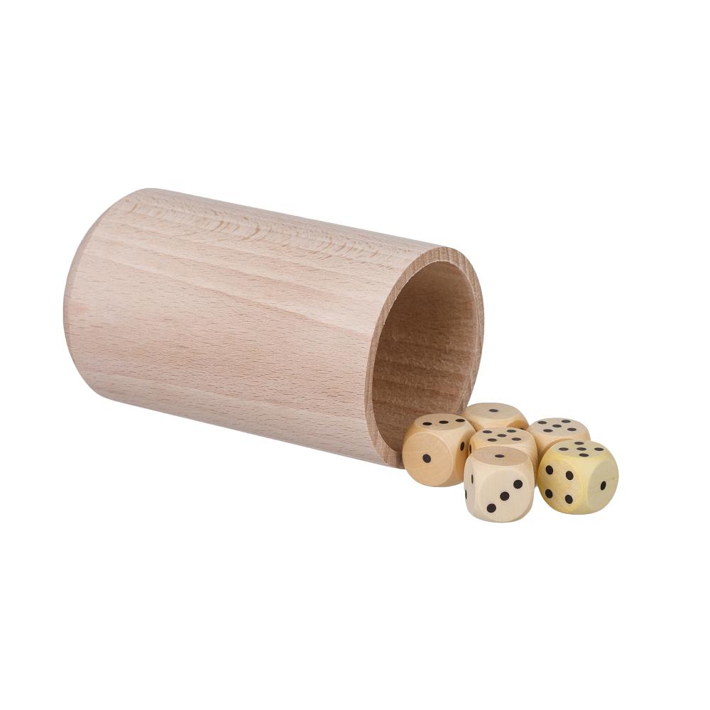 Hrací kostky 6 ks s kelímkem