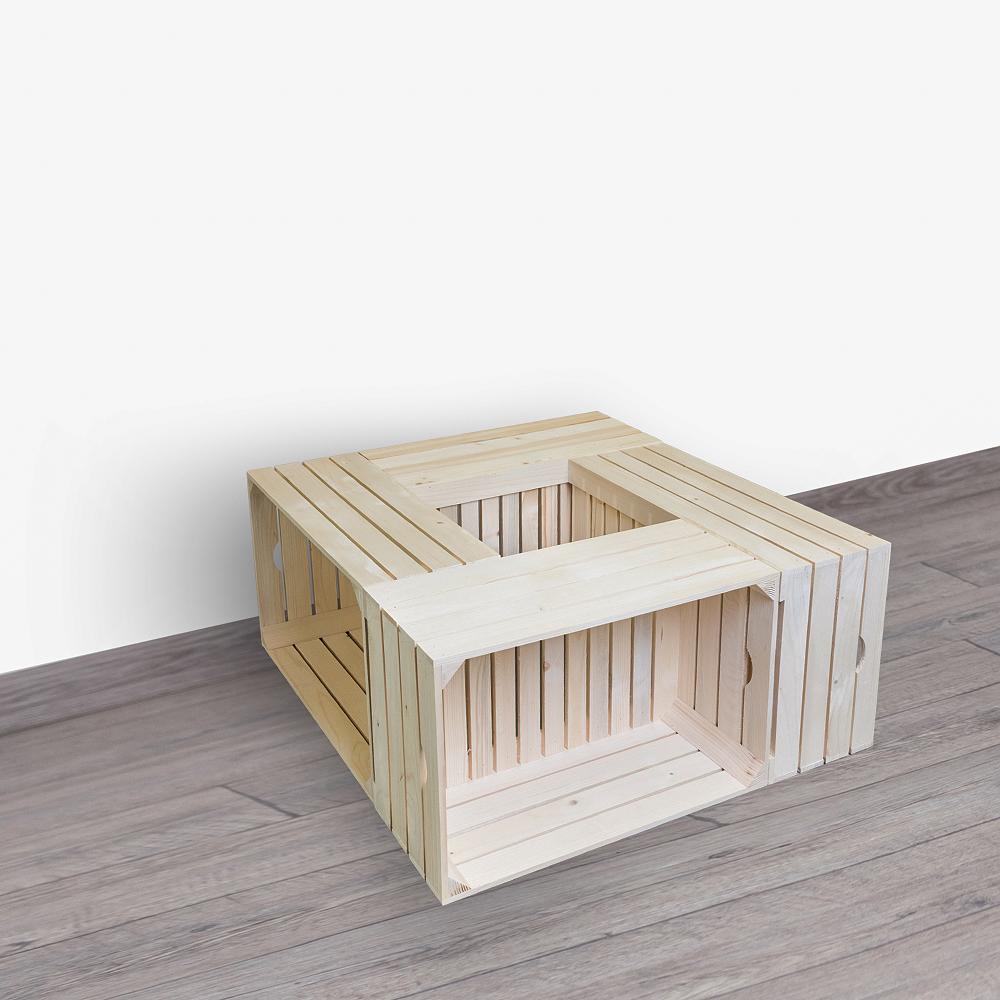 Dřevěné bedýnky konferenční stolek 84X39X84 CM