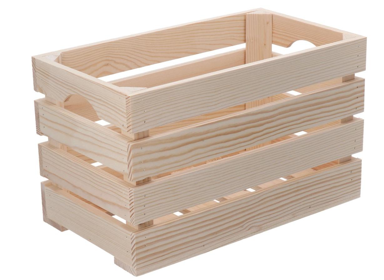 Dřevěná bedýnka 40x22x24 cm