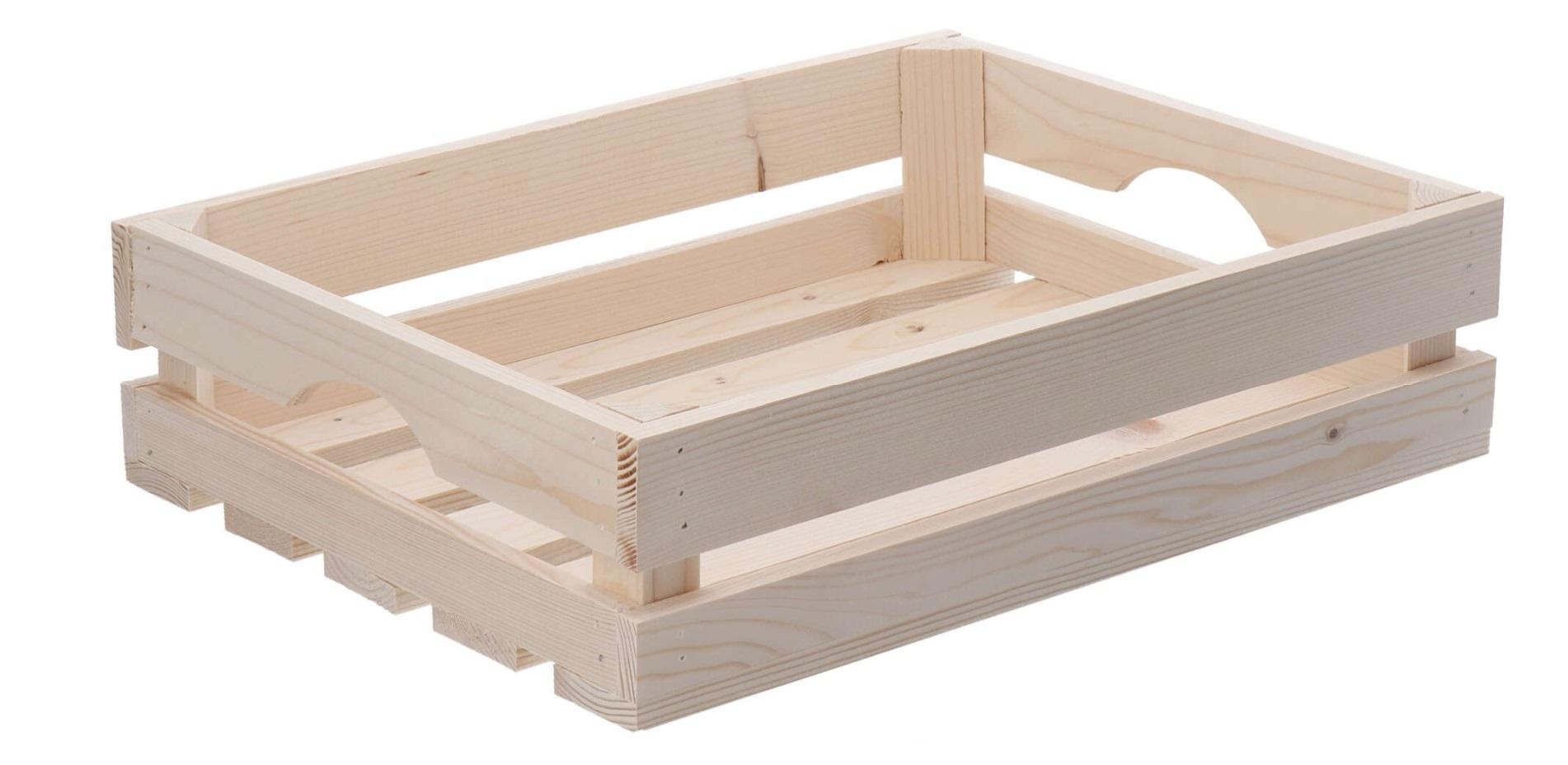 Dřevěná bedýnka 40x30x10 cm