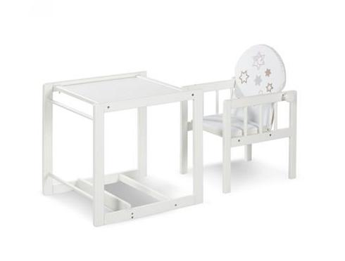 Jídelní židlička borovice bílá - AGA hvězdičky