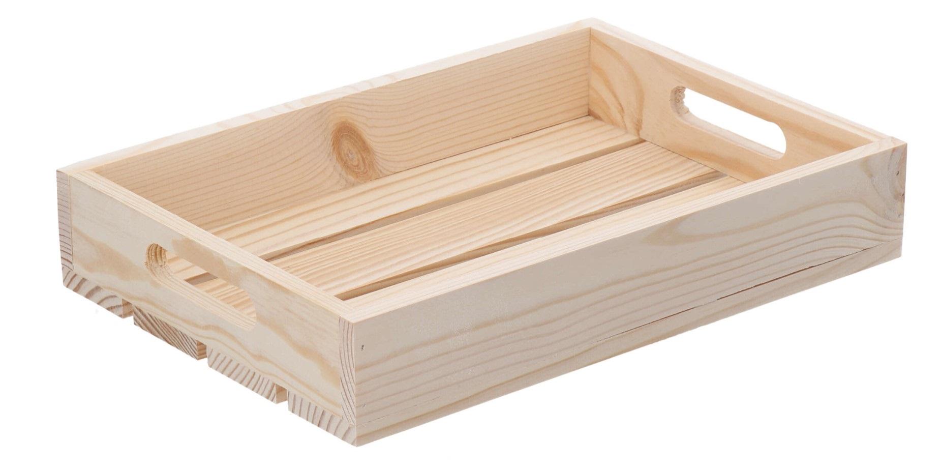 Dřevěná bedýnka 32x22x6 cm