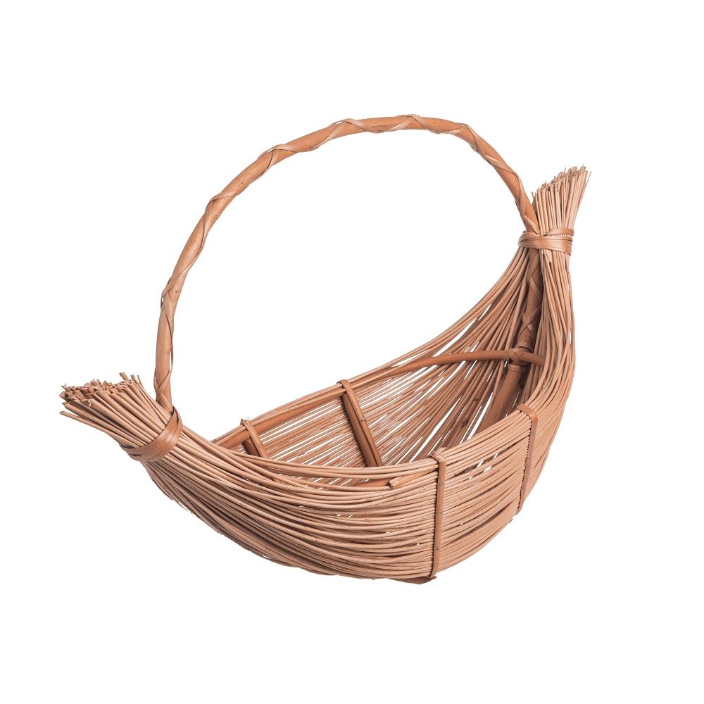 Proutěný košík lodička