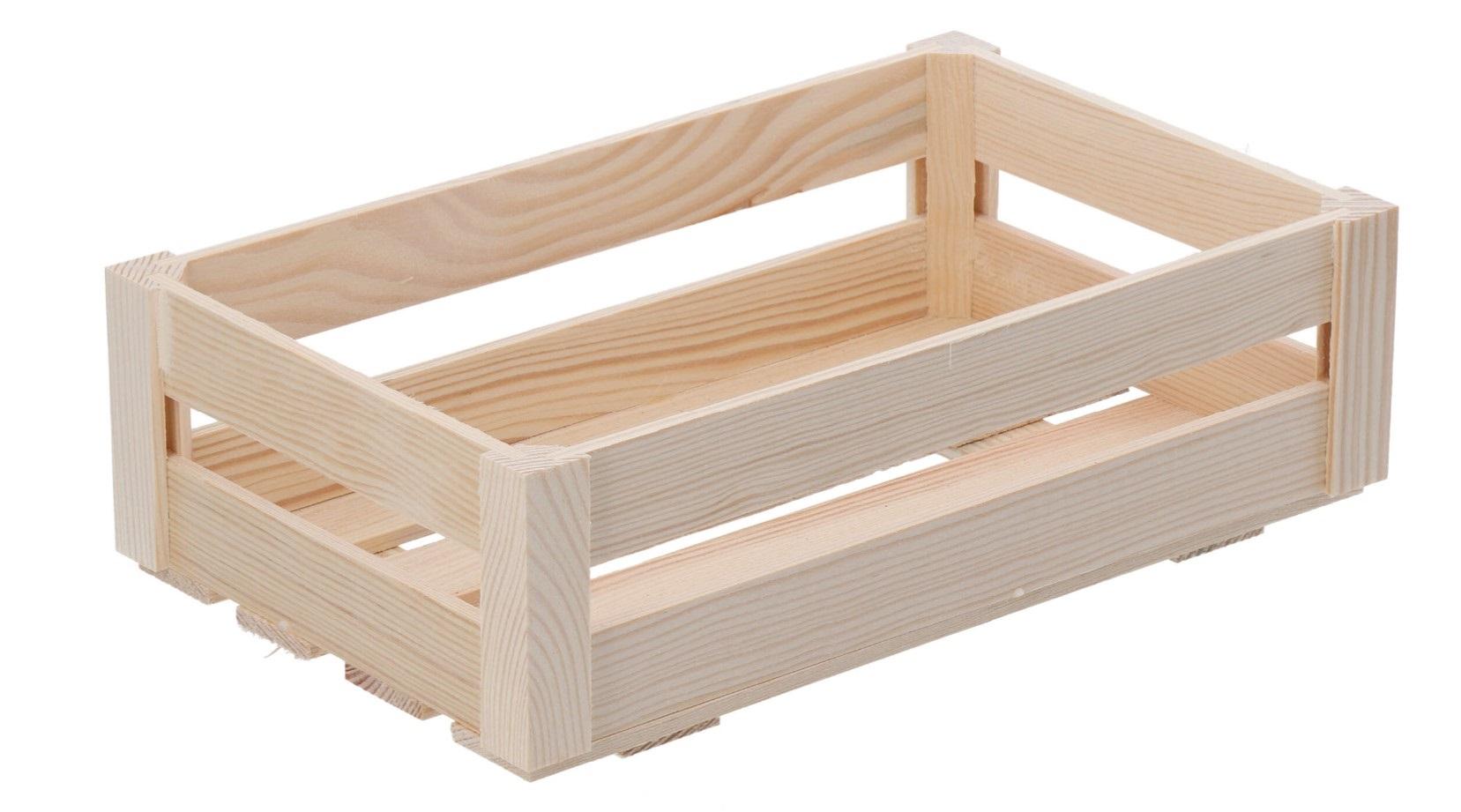 Dřevěná bedýnka - střední (snížená)