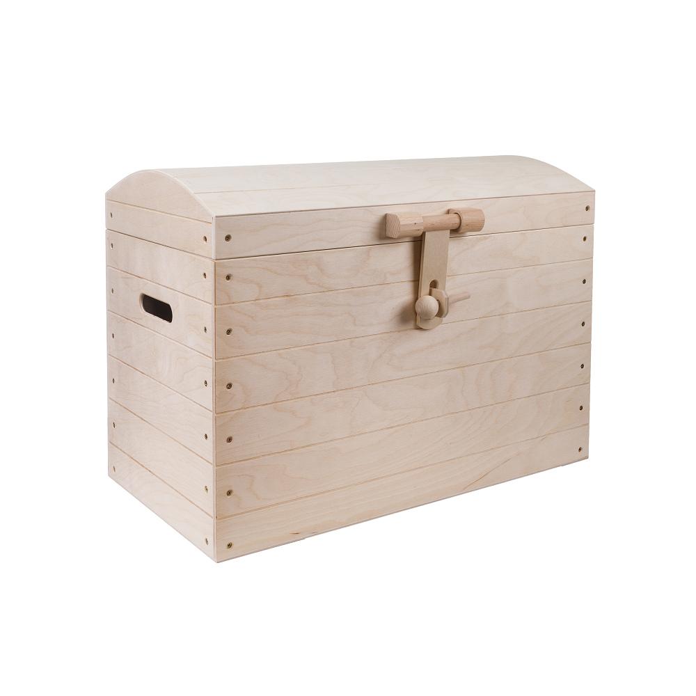 Dřevěná truhla 63x34x45 cm