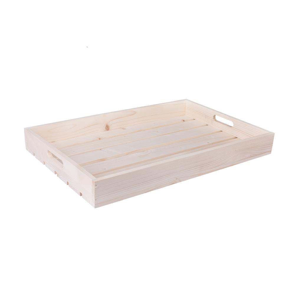 Dřevěná bedýnka 56x36x6 cm