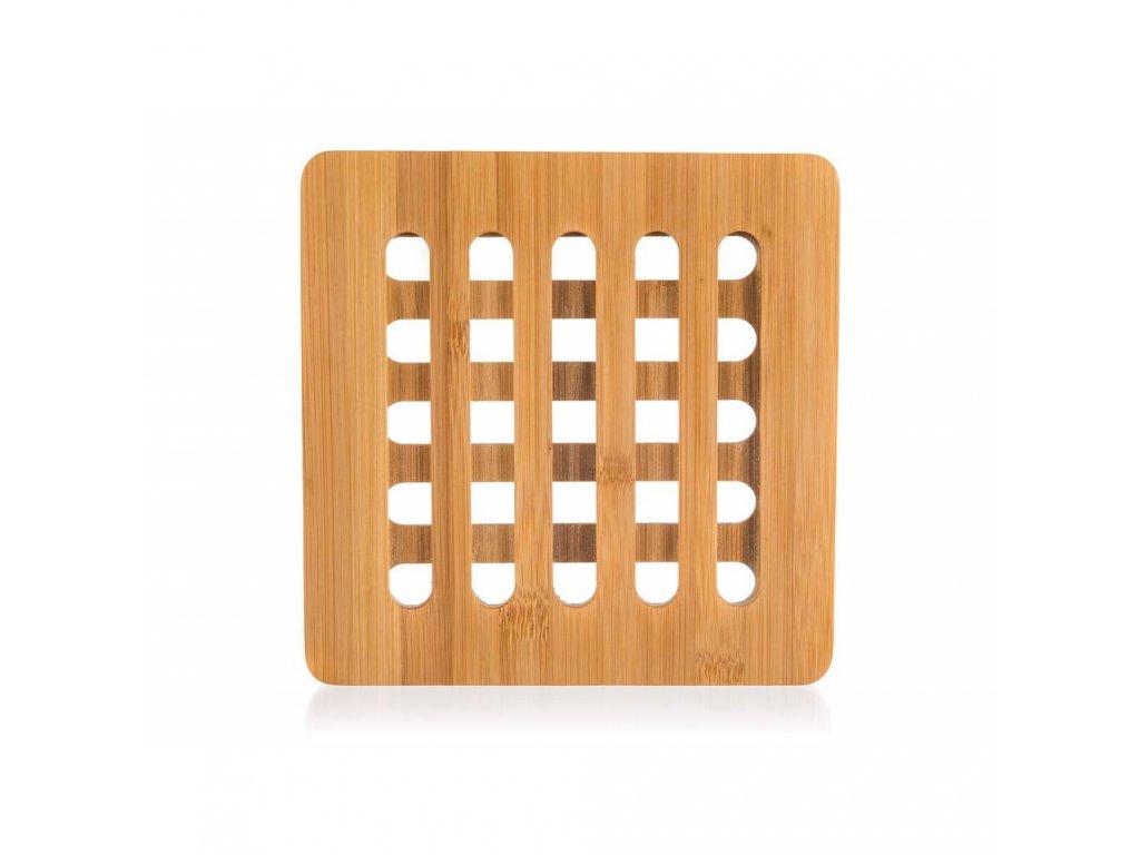 Drevená bambusová podložka BRILLANTE - 16 x 16 x 1 cm