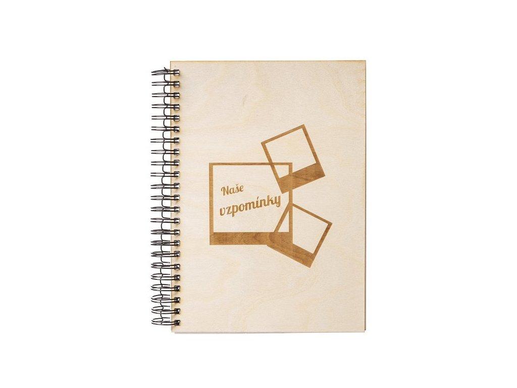 Dřevěné fotoalbum A4 - Vzpomínky