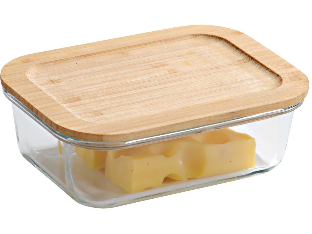 Bambusová krabička na potraviny - hranatá