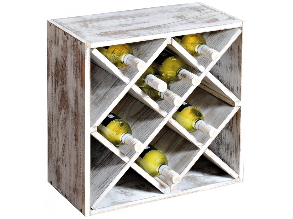 Drevený stojan na víno IV - 50 x 50 x 25 cm