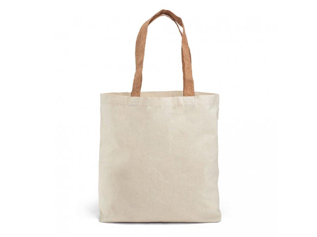 Bavlnená nákupná EKO taška s korkovým uchom