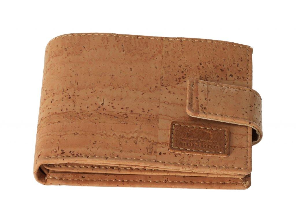 Pánska korková peňaženka so zapínaním